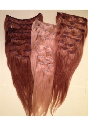 Волосы на заколках  Remy- АА класса 60 см - 120 грамм