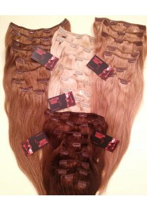 Волосы на заколках  Remy- АА класса 60 см - 160 грамм