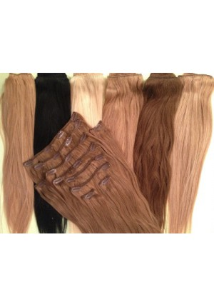 Волосы на заколках  Remy- АА класса 55 см - 160 грамм