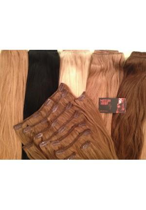 Волосы на заколках  Remy- АА класса 60 см - 140 грамм