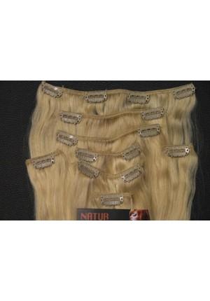 Волосы на заколках  Remy - АА класса 55 см- 100 грамм