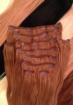 Волосы на заколках  Remy- АА класса 65 см - 140 грамм